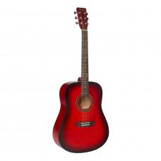 BEAUMONT DG80/RDS - акустическая гитара, дредноут, корпус липа, цвет красный санбёрст