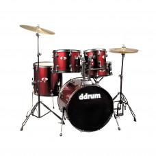 DDRUM D120B BR - удар. установка (2 кор): 5 бараб., тарелка, стойки, педаль, палочки , цвет красный