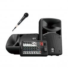 YAMAHA STAGEPAS 400BT1M - система звукоусиления, 400 Вт (НЧ 200 Вт + ВЧ 200 Вт) с 1 микрофоном