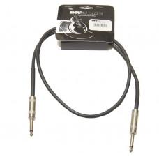 INVOTONE ACI1001/BK - инструментальный кабель, 6,3 джек моно <-> 6,3 джек моно, длина 1 м (черный)