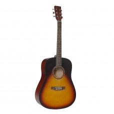 BEAUMONT DG80/VS - акустическая гитара, дредноут, корпус липа, цвет скрипичный санбёрст