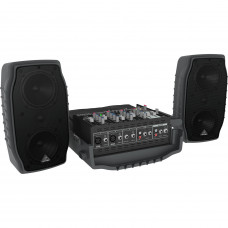 BEHRINGER PPA200 - портатив.система звукоусил.,150 Вт, 5 каналов,,эффекты,эквалайзер, микрофон+кабе