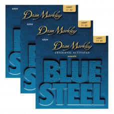 DEAN MARKLEY 2034-3PK - струны для акустической гитары, в комплект входят 3 упаковки,толщина 11-52