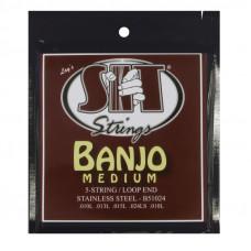 SIT Strings B51024 - струны для банджо,(10-13-15-24w-10) 5 струн