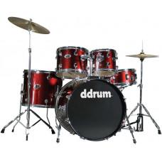 DDRUM D2 BR - удар. установка (2 коробки): 5 бараб., 2 тарелки, стойки, педаль, палочки,цвет-красный