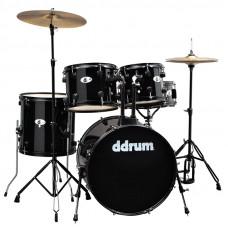 DDRUM D120B MB - удар. установка (2 кор): 5 бараб., 2 тарелки, стойки, педаль, палочки, цвет-черный