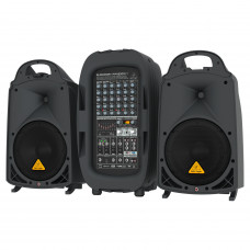 "BEHRINGER PPA2000BT - 8-кан. порт. система звукоусиления, 10""+1"", 2х1000Вт 4Ом, 2х500Вт 8Ом, DSP."