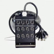 INVOTONE DB0804/20M - распределительная коробка с кабелем, 8 входов-4 выхода, длина 20 м