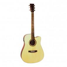 BEAUMONT DG80CE/NA - электроакустическая гитара с вырезом