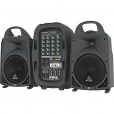 "BEHRINGER PPA500BT - 6-кан. порт. система звукоусиления, 8""+1"", 2х250Вт 4Ом, 2х160Вт 8Ом, DSP."