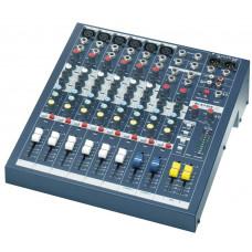 SOUNDCRAFT EPM6 - микш. пульт 6 моно, 2 стерео, 2 Aux, фейдеры 60мм. Возможен монтаж в рэк, крепле