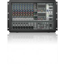 BEHRINGER PMP1680S - микшер со встроен усилит,рэковый,2х800 Вт,6 моно,2 стерео, эквалайзер, эффекты