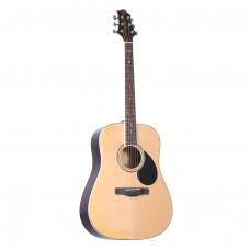 GREG BENNETT GD100RS/N - акустическая гитара,дредноут, ель, цвет натуральный