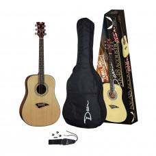 DEAN AK48 PK - комплект: акустическая гитара/чехол/нейлон.ремень/свисток/3 медиатора