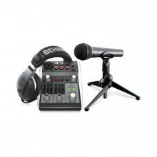 BEHRINGER PODCASTUDIO 2 USB - комплект для домашней звукозаписи и подкастинга.