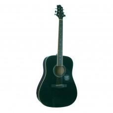 GREG BENNETT GD100S/BK - акустическая гитара, дредноут, ель, цвет черный