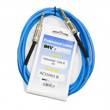 INVOTONE ACI1003/B - инструментальный кабель, 6,3 джек моно <-> 6,3 джек моно, длина 3 м (синий)