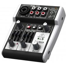 BEHRINGER 302USB - 5-вход. микшерный пульт, с микрофонными предусилит. XENYX, USB/аудио интерфейсом