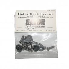 GATOR GA-20 - болты крепёжные для рэковых кейсов с шайбой, (упаковка 10 штук)