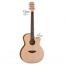 LUNA GYPSY FLM - акустическая гитара с вырезом,ель,графика фактуры клена