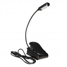 """ONSTAGE LED2214 - светильник на """"гусиной шее"""", с прищепкой, встроенный аккумулятор"""