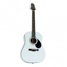 GREG BENNETT D1/PW - акустическая гитара, дредноут, нато, цвет белый металлик