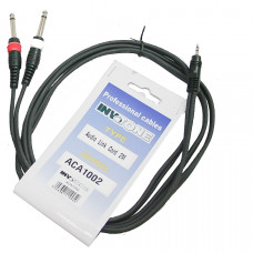 INVOTONE ACA1002 - аудио кабель, 3,5 джек стерео <-> 2 x 6,3 джек моно длина 2 м