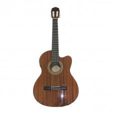 SAMICK CN1CE/N - классическая гитара с подключением,с вырезом, 4/4, красное дерево, цвет натуральный