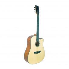 BEAUMONT DG142C - акустическая гитара, дредноут с вырезом, ель, цвет натуральный