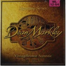 DEAN MARKLEY 2004 - струны для акустической гитары, 012-054