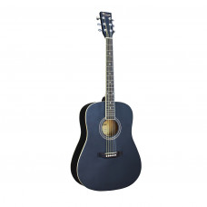 BEAUMONT DG80/BK - акустическая гитара, корпус дредноут, цвет чёрный, матовый