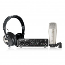 BEHRINGER U-PHORIA STUDIO PRO - комплект для записи с USB аудиоинтерфейсом, конденсаторным микрофоно